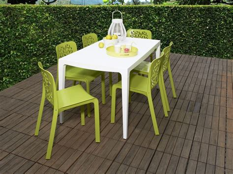 ensemble table et chaise de jardin en plastique advice