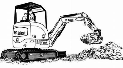 Bobcat Clipart Skid Steer Equipment Clip Digger