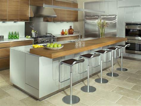inspirations 5 cuisines avec table intégrée joli place