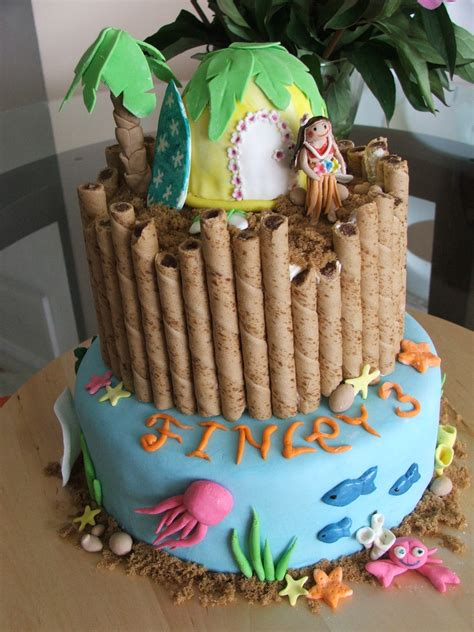 Hawaiian Luau Birthday Cake Ideas
