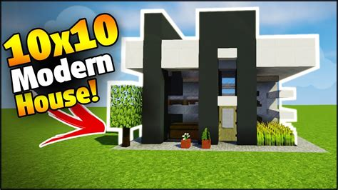 minecraft  modern starter house tutorial   build  house  minecraft youtube