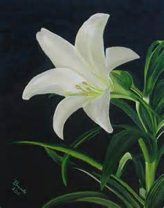 White Lily Painting
