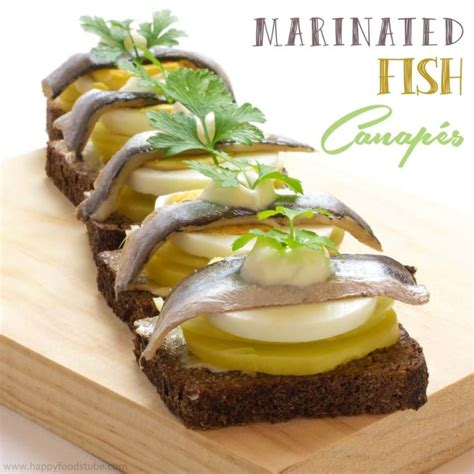 best canapes marinated fish canapés foods