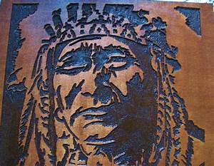 custom made native american indian chief handmade wood With indian wall art
