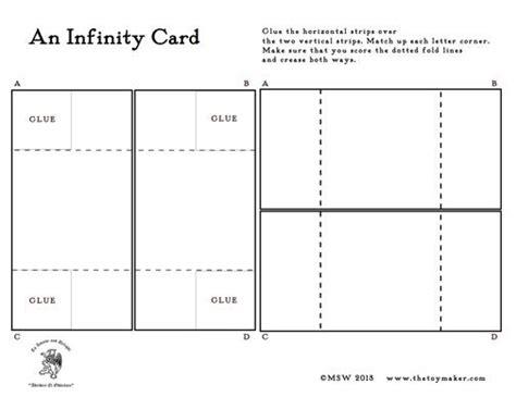 infinity card  template infinity card