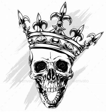 King Skull Crown Corona Coloring Gangsta Human