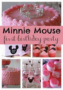 Sweet Minnie Mouse First Birthday - Pretty My Party