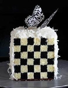 Damier Noir Et Blanc : le g teau damier en 49 photos et quelques vid os utiles ~ Dallasstarsshop.com Idées de Décoration