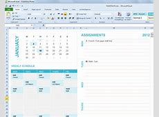 Free Student Planning Template for Excel 2007 & 2010