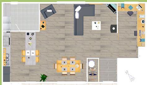 plan de cuisine ouverte sur salle à manger eyredeco décoration d 39 intérieur plan