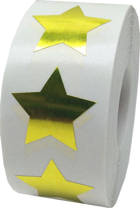 Large Gold Star Stickers 1 Inch Star Stickers In Stock