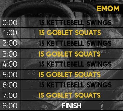 emom kettlebell workout squat goblet juanlugofitness