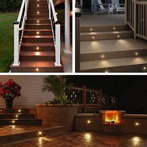 Outdoor led lighting for patios : Deck light yard garden patio stairs landscape outdoor led