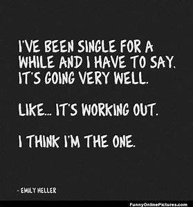 Funny Being Single Quote