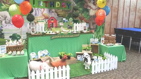 theme farm animals      party