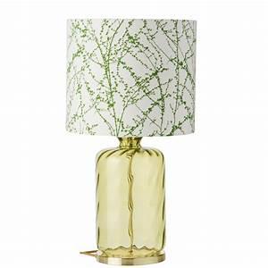Dänische Design Leuchten : glas tischlampe mit stoffschirm ~ Markanthonyermac.com Haus und Dekorationen