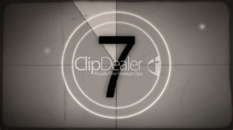 film leader countdown royalty  video  stock footage