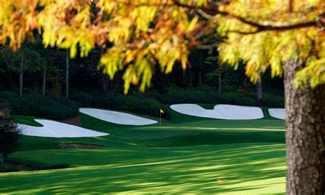 masters augusta nationals fall grass  noticed