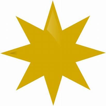 Gold Star Clip Clipart Vector Clker Cliparts