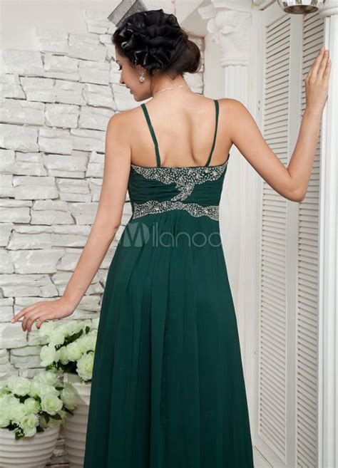empire du mariage 10eme robe de bal verte fonc 233 e en chiffon taille empire 224 fines