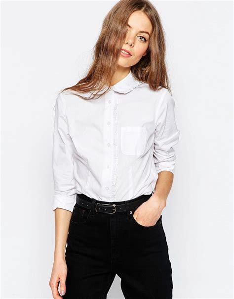 white pan collar blouse shopping guide dresses and tops with pan collars