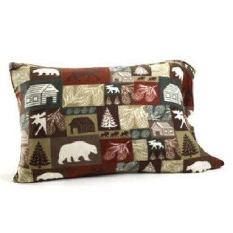 cabin patchwork bear moose fleece sheet set flat fitted king queen twin full  ebay