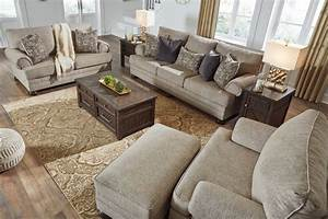 Signature, Design, Kananwood, Oatmeal, Fabric, Chair, And, A, Half, By, Ashley
