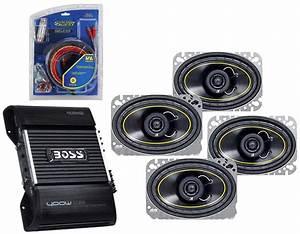 Kicker Car Audio  2  07 Ds460 Stereo 4x6 U0026quot  Door 50 Watt Speaker Pairs  Boss Ce404 4 Channel 200