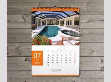 2018 calendar template Printable PDF wall calendar A2 and A3