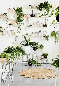 Porte Plante Interieur Design : inspirierende dekoideen kleiner innen gartenbereich ~ Teatrodelosmanantiales.com Idées de Décoration
