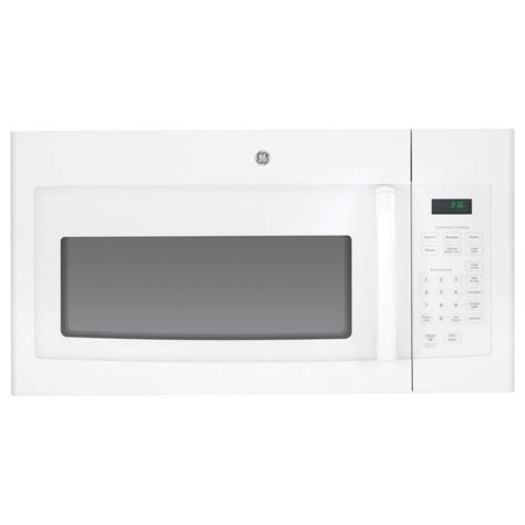ge  cu ft   range microwave  white jvmdfww  home depot