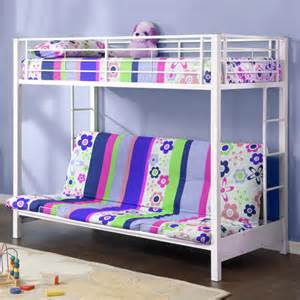 futon premium metal bunk bed white walmart com