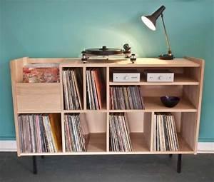 Meuble Platine Vinyle Vintage : ranger ses vinyles mariekke ~ Teatrodelosmanantiales.com Idées de Décoration