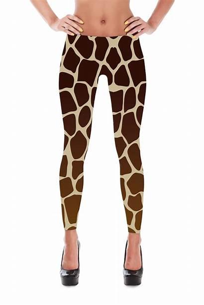Leggings Giraffe Pattern Costume Patterned Tights Shiny