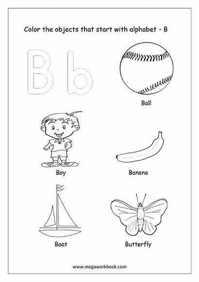 Coloring Alphabet Start Worksheets Objects Megaworkbook Printable