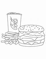 Hamburger Burger Cola Coca Fries Coloring Pages Mcdonalds Sheet Print Printable Template French Food Getcolorings Colorings Templates Learn Popular Books sketch template