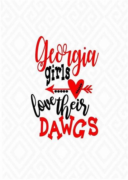 Georgia Bulldogs Dawgs Svg Ga Football Bulldog