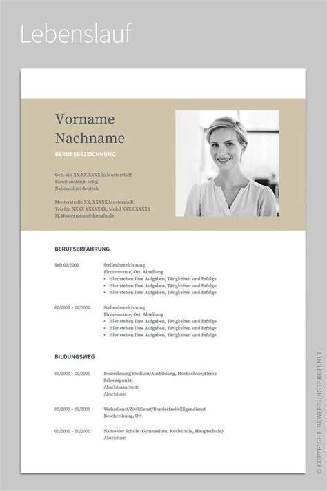 Bewerbung »Napea« mit Lebenslauf | Deutsch | Vorlage ...