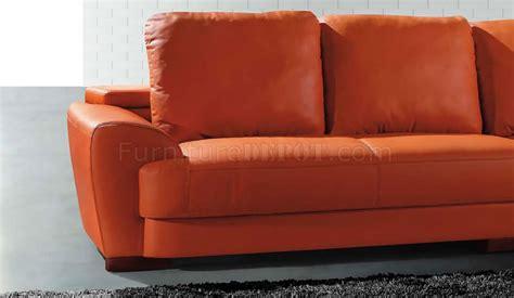 modern sectional sofa  orange