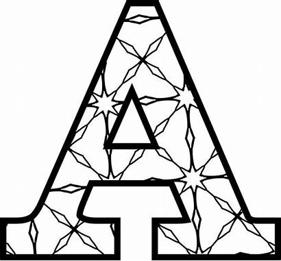 Printable Letters Alphabet Coloring Pattern Blackline Pullen