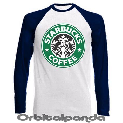 Kaos Tshirt Starbucks Coffee sleeve baseball t shirt starbucks coffee design