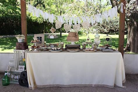 shabby chic wedding reception food ideas kara s party ideas dessert table from a vintage shabby chic wedding via kara s party ideas