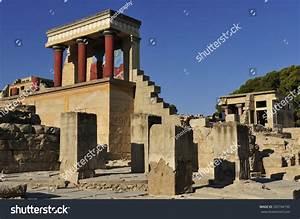 Knossos Crete Greece Knossos Palace Largest Stock Photo ...