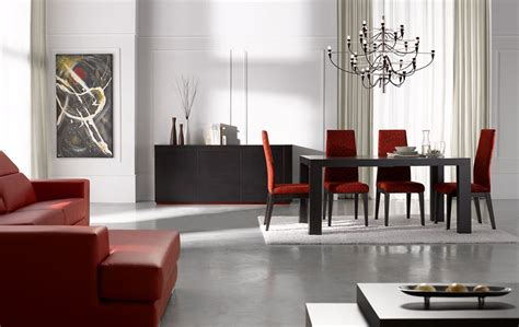 modern dining room sets extendable rectangular in wood fabric seats modern