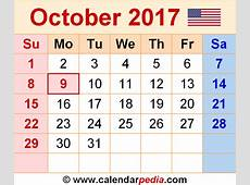 October 2017 Calendar Nz weekly calendar template