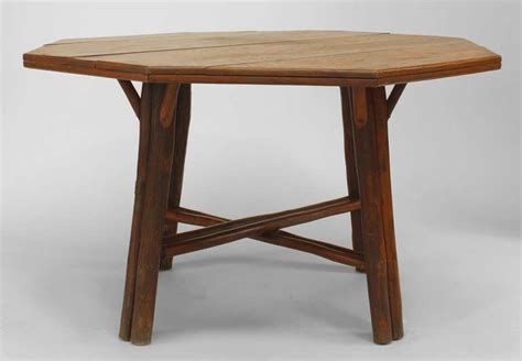 American Of Martinsville Dining Room Table by American Rustic Oak Dining Table By Old Hickory Co For