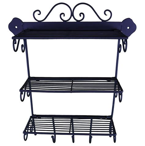 etagere murale laquee etagere murale cuisine fer forge style ancienne 40x33cm
