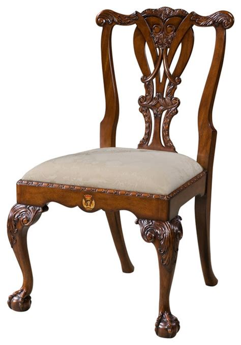 george iii mahogany and claw foot dining chairs set
