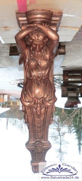 gartendekoration frauen karyatiden gartenfigur wandkonsole balkonwinkel
