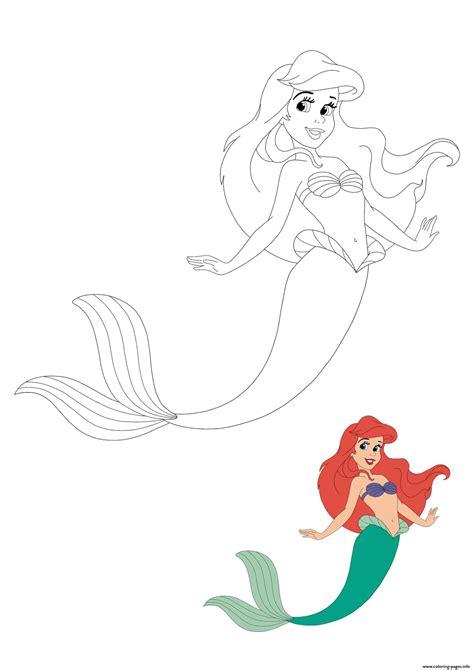 mermaid ariel coloring pages printable